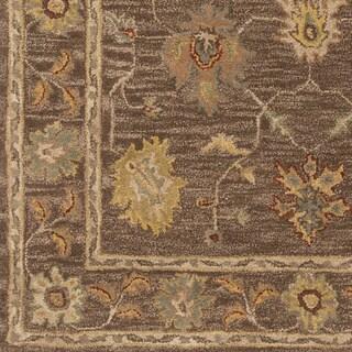 Hand-Tufted Akio Bordered Wool Rug (6' x 9')