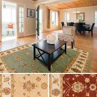 Hand-Tufted Isamu Bordered Wool Rug (7'6 x 9'6)