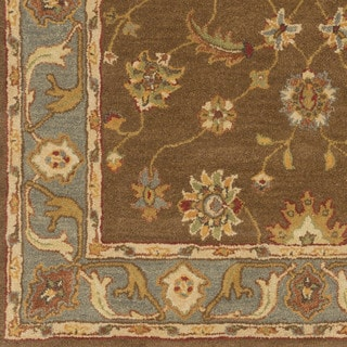 Hand-Tufted Feng Bordered Wool Rug (8' x 11')