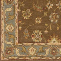 Hand-Tufted Feng Bordered Wool Rug - 8' x 11'