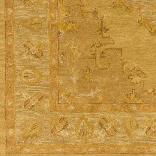 Hand-Tufted Fahua Bordered Wool Rug - 9' x 13'