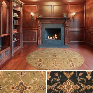Hand-Tufted Hiromi Oriental Wool Rug (3'6 Round) - 3'6 x 3'6
