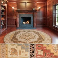Hand-Tufted Haru Bordered Wool Rug - 3'6