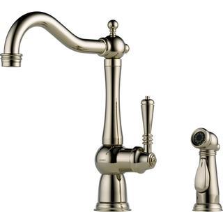Brizo Tresa Polished Nickel Single Handle Kitchen Faucet with Spray