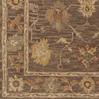 Hand-Tufted Akio Bordered Wool Rug (6' Round)