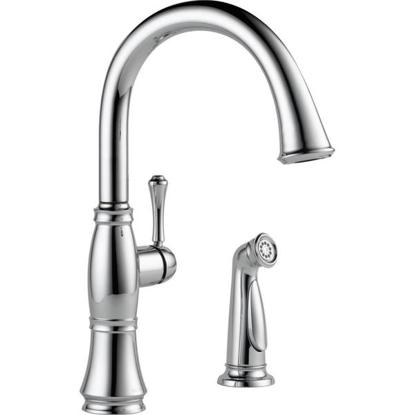 Delta Cassidy Single Handle Kitchen Faucet with Spray 4297-DST Chrome