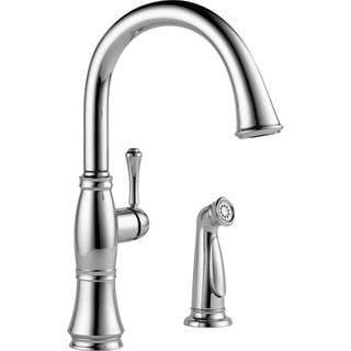 Delta Cassidy Chrome Single Handle Kitchen Faucet with Spray