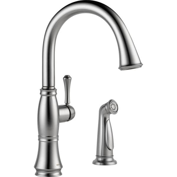Delta Cassidy Single Handle Kitchen Faucet with Spray 4297-AR-DST Arctic Stainless
