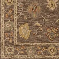 Hand-Tufted Akio Bordered Wool Rug - 8'