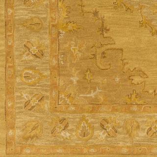 Hand-Tufted Fahua Bordered Wool Rug (8' Round)