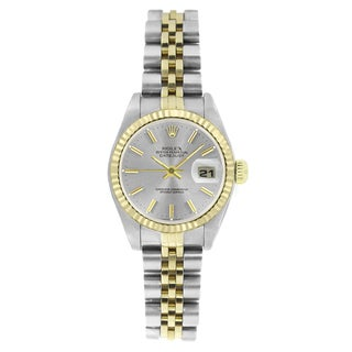 Pre-Owned Rolex Women's 6917 Datejust Two-tone Silver Stick Watch