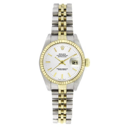 4cb2c7e5c73 Shop Pre-owned Rolex Women's 6917 Datejust Two-tone White Stick Watch -  Free Shipping Today - Overstock - 9540511