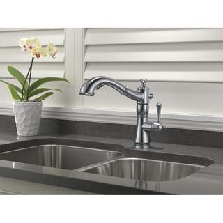 Delta Cassidy Single Handle Pull-Out Kitchen Faucet 4197-AR-DST Arctic Stainless|https://ak1.ostkcdn.com/images/products/9540516/P16719326.jpg?impolicy=medium