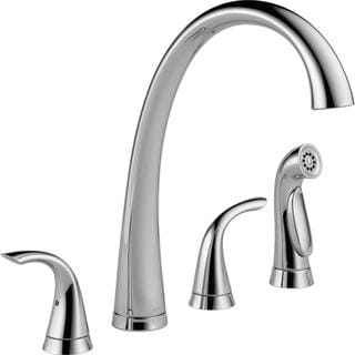 Delta Pilar Chrome Two Handle Widespread Kitchen Faucet with Spray