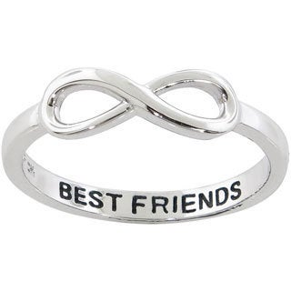 Eternally Haute Sterling Silver Best Friends Infinity Ring