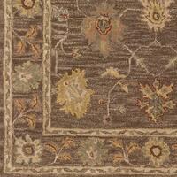 Hand-Tufted Akio Bordered Wool Rug - 2'3 x 12'