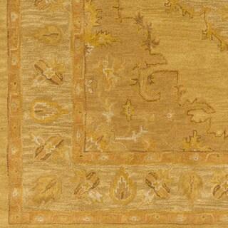 Hand-Tufted Fahua Bordered Wool Rug (2'3 x 12')