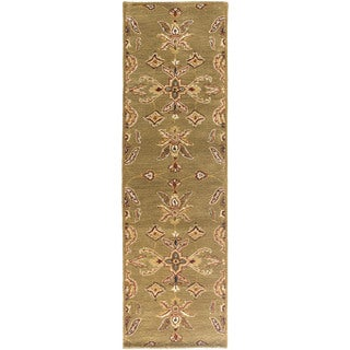 Hand-Tufted Hiromi Oriental Wool Rug (23 x 14 Runner - Sage)