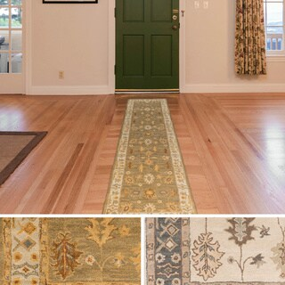 Hand-Tufted Asnee Bordered Wool Rug (2'3 x 14')