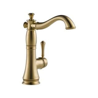 Delta Cassidy Champagne Bronze Single Handle Bar/ Prep Faucet
