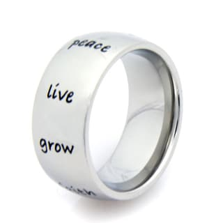 Stainless Steel Peace, Hope, Love Ring