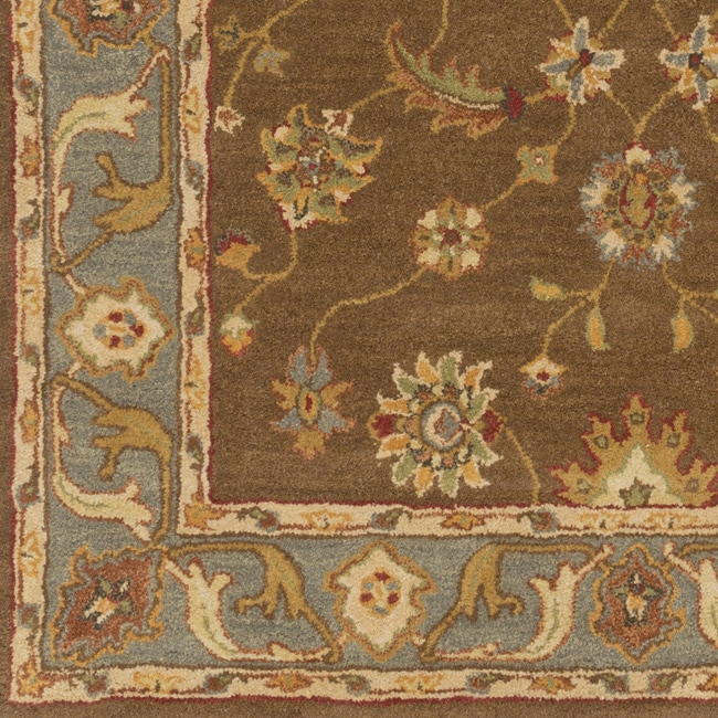 Campbell Hausfeld Hand-Tufted Feng Bordered Wool Rug (2'3...