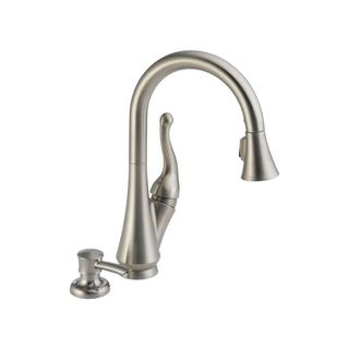 Delta Talbott Single Handle Pull-down Kitchen Faucet with Soap Dispenser