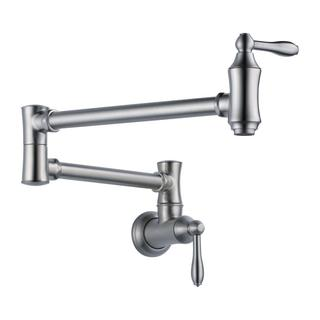 Delta Cassidy Traditional Wall Mount Pot Filler 1177LF-AR Arctic Stainless