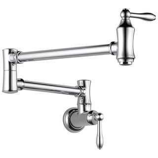 Delta Chrome Wall Mount Pot Filler Faucet