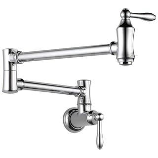 Delta Traditional Wall Mount Pot Filler 1177LF Chrome|https://ak1.ostkcdn.com/images/products/9540586/P16719317.jpg?impolicy=medium