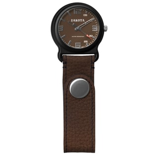 Dakota Men's Brown Leather Snap Fob Watch