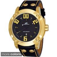 Men's Adee Kaye AK7281-M Leather Strap Watch