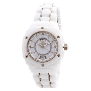 "Women's Oniss Paris ""Galaxy"" Collection White Watch