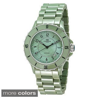 Oniss Women's Paris AK8043-L Ceramic Swiss Quartz Watch