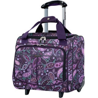 Ricardo Beverly Hills Mar Vista Purple Paisley 16-inch Rolling Tote Bag
