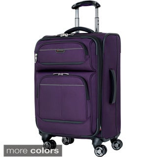 Ricardo Beverly Hills Mar Vista Solid 20-inch Expandable Carry On Spinner Upright Suitcase