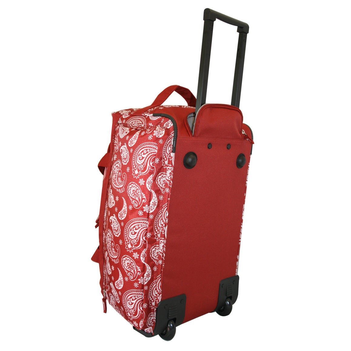 578c85d363 Shop Dadamo 21-inch Burgundy Paisley 4-pocket Rolling Carry On Upright  Duffel Bag - Free Shipping On Orders Over  45 - Overstock - 9540682