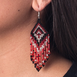 Barrilete Hand-beaded Earrings (Guatemala)