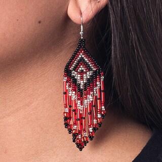 Barrilete Hand-beaded Earrings (Guatemala)