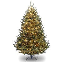 Natural Fraser Fir Hinged Tree with 1000 Clear Lights