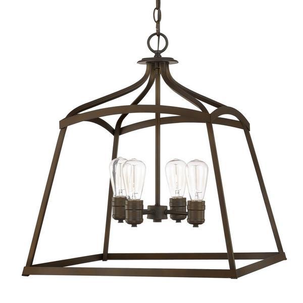 Transitional Foyer Lighting : Capital lighting transitional light burnished bronze