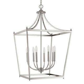 Stanton Polished Nickel 8-light Foyer Pendant