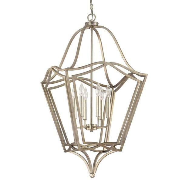 Transitional Foyer Lighting : Shop capital lighting transitional painted winter gold