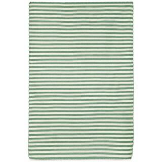Petite Stripe Aqua Outdoor Rug (5'X7'6)