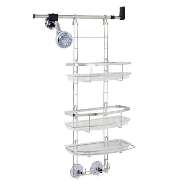 Shop Zenith Make A Space Stainless Steel Shower Caddy Overstock 9541220