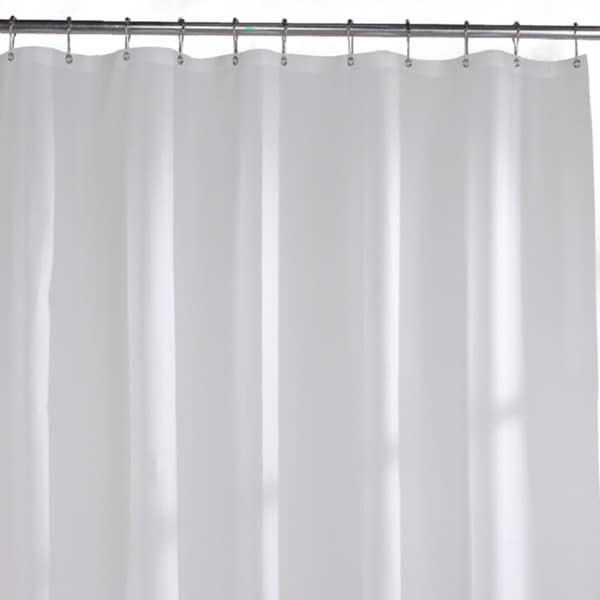 Commercial-grade Solid White Vinyl Shower Curtain Liner