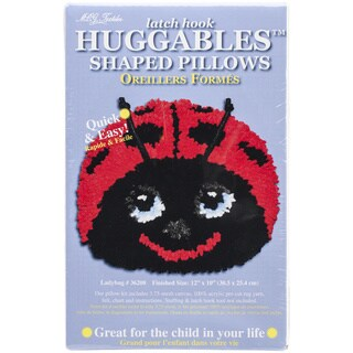 Huggables Ladybug Pillow Latch Hook Kit-12INx10IN
