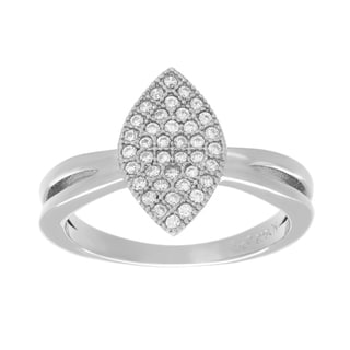 Sterling Essentials Silver Cubic Zirconia Marquise Ring