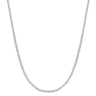 Fremada Sterling Silver Diamond-cut Bead Necklace (20 - 36 inches)