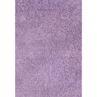 Shag Lavender Chenille Cotton Area Area Rug (3'2 x 4'8)